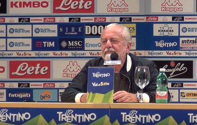 Le parole di De Laurentiis, durante la presentazione del ritiro estivo, sul futuro del Napoli