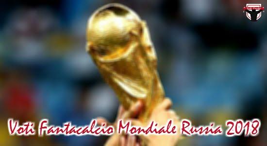 VOTI FANTACALCIO MONDIALE Russia 2018: 1° giornata Fase a gironi